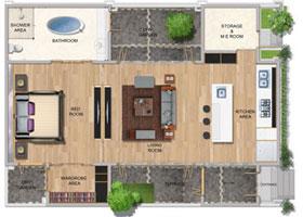 One Bedroom Studio Villa