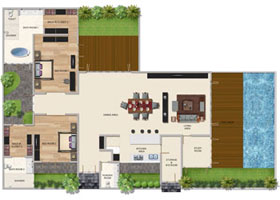 Two Bedroom Premium Pool Villa (Corner)