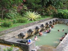 地元の温泉