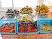 フルーツの種類も豊富