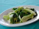 野菜のガーリックソース炒め