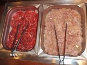 牛肉と鶏肉