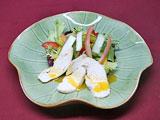高原野菜とささみのサラダ、ハニーオレンジドレッシング添え