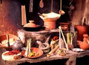 バリ伝統の食材と調理器具