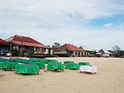 昼間のビーチ席
